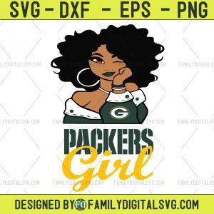 #Green-Bay-Packers Girl NFL Svg, Girl Nfl Sport, Sport Svg, Girl Cut File, Silhouette Svg, Cutting Files, Download Instant, BaseBall Svg, Football Svg, HockeyTeam
