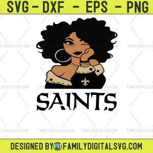 #New-Orleans-Saints Girl NFL Svg, Girl Nfl Sport, Sport Svg, Girl Cut File, Silhouette Svg, Cutting Files, Download Instant, BaseBall Svg, Football Svg, HockeyTeam