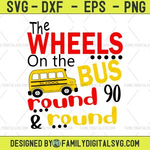 The Wheels On The Bus SVG, DXF, EPS, png Files for Cutting Machines Cameo or Cricut - Preschool Svg, Nursery Rhyme Svg, School Svg, Boy Svg