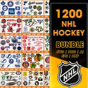 NHL Sport Svg, Bundle Sport Svg, Mega Bundle NHL Sport All 20 Teams 1200 Files, Baseball Svg, Football Svg, Christmas Svg, Cut Files