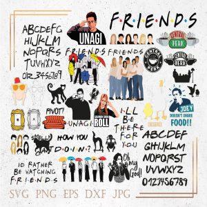 Friends Bundle Svg, Friends TV Show Svg, Friends Quote Svg, Central Perk Svg, Turkey Svg, Friends Font Svg, Unagi Svg Pivot Svg Clipart