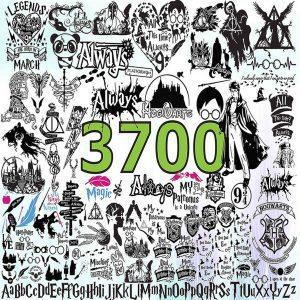 Harry Potter Svg, Bundle Harry Potter 3700 Files, Harry Svg, Potter Svg, Harry Potter Cricut, Cutting Files, Disney HArry Potter Svg