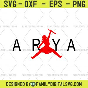 Arya Svg, Arya MVP svg, Game of Thrones svg, Winter is Coming svg, House Stark svg, Cricut, Silhouette Cut Out Files svg dxf png eps