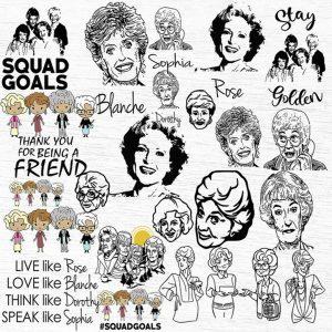 Golden Girls Svg, Golden Girls Cut Files, Bundle Golden Girls , Golden Girls clipart, Golden Girls Bundle Svg Digital Download