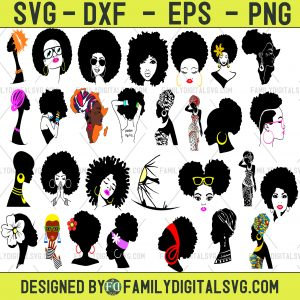 #Afro Woman SVG Bundle,Afro Woman Clipart,Afro Woman DXF,Afro Woman Vector,Afro Woman png,Afro Woman cut files,Black Woman svg