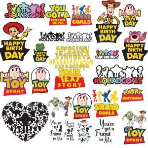 Toy Story Svg, toy story clipart, disney svg, sheriff woody svg, cartoon svg, toy story silhouette, toy dxf, buzz lightyear svg, buzz svg