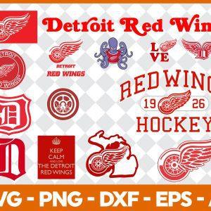 #Detroit Red Wings Svg, Sport Svg, Hockey Team Svg, FootBall Svg, BaseBall Svg, NHL Sport Svg, Silhouette Svg, Cricut, Cutting Files, Download Instant