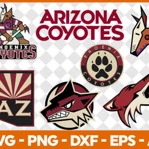 #Arizona Coyotes Svg, Sport Svg, Hockey Team Svg, FootBall Svg, BaseBall Svg, MLS Sport Svg, Silhouette Svg, Cricut, Cutting Files, Download Instant