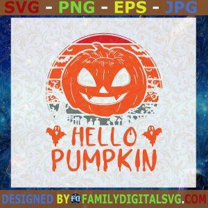 #Hello Pumpkin SVG, Halloween SVG, Pumpkin SVG, Ghost SVG  Cut File, Instant Download, Silhouette, Vector, Clip Art