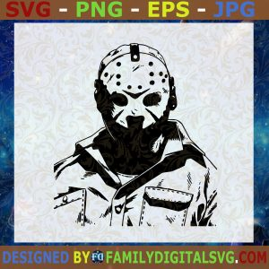 #Jason Voorhees Friday the 13th Halloween SVG DXF EPS PNG Cutting File for Cricut Cut File, Instant Download, Silhouette, Vector, Clip Art