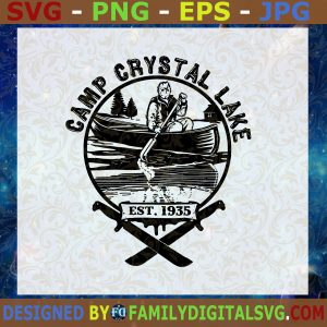 #Camp Crystal Lake SVG, Jason Horror movie SVG, Halloween SVG, jason mask SVG
