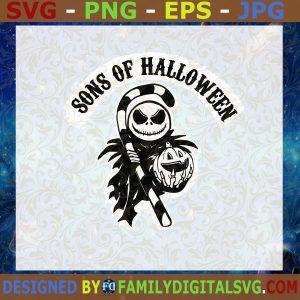 #Jack Skellington Sons Of Halloween SVG, Nightmare Before Christmas SVG