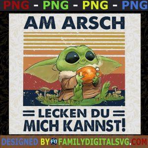 #Baby Yoda PNG, Baby Yoda Halloween PNG, Am Arsch Lecken Du Mich Kannst PNG