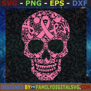 #Tattoo Skull Cancer SVG, Skull Cancer Awareness SVG, Cancer 2021 SVG