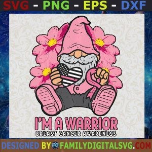#Breast Cancer Awareness Gnome SVG, Cancer Awareness Cut File, Gnome File, Digital Download File for Cutting Machines
