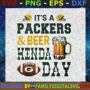 #It's A Packers & Ber Kinda Day Svg, Beer Svg, basketball Svg, green bay packers Svg, Logo green bay packers SVG, PNG, EPS, DXF ,Silhouette, files and cricut, Digital Files, Cut Files For Cricut, Instant Download, Vector, Download Print Files