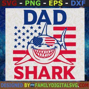 #American Dad Svg, Dad Shark Svg, Baby Shark Do Do Do Svg, American Flag Svg