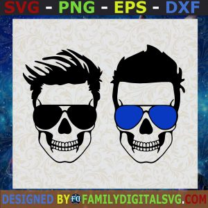 #Couple of Dadlife Skull With Glasses SVG, Father's Day, Gift for Dad   Digital Files, Cut Files For Cricut, Instant Download, Vector, Download Print Files