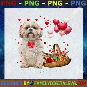 #Lovely Dog Svg, Dog Heart Svg, Flower Dog Svg, Little Puppy Svg, Dog Lover Svg