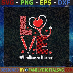 #Healthcare Worker, Love Stethoscope Heart, ER Nurse Valentines Day ,Stethoscope, Valentine Of Nurse, ER Nurse Life, Heart and Stethoscope SVG, Birthday Gift, Idea for Perfect Gift, Gift for Everyone   Digital Files, Cut Files For Cricut, Instant Download Vector, Download Print Files