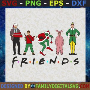 #Friends Christmas Movie, Merry Christmas, Grinch Monster SVG, Birthday Gift, Idea for Perfect Gift, Gift for Friends, Gift for Everyone   Digital Files, Cut Files For Cricut, Instant Download Vector, Download Print Files