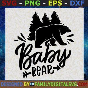 Baby Bear Svg, Family Bear Svg, Family Svg, Animal Svg, Happy Mother's Day Svg