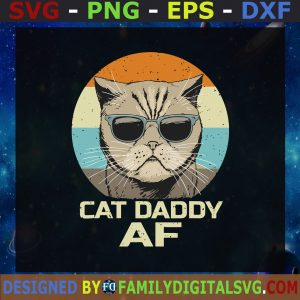 #Cat Daddy Svg, Daddy And Son Svg, Cat Dad Svg, Love Cat Svg, Glasses Kitten Svg