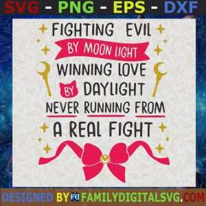 #Fighting Evil By Moon Light, Sailor Moon Quote SVG, Birthday Gift, Idea for Perfect Gift, Gift for Friends, Gift for Everyone | Digital Files, Cut Files For Cricut, Instant Download Vector, Download Print Files