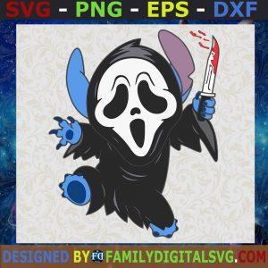 #Halloween Stitch SVG Ghost Face SVG, Scream Horror Movie SVG