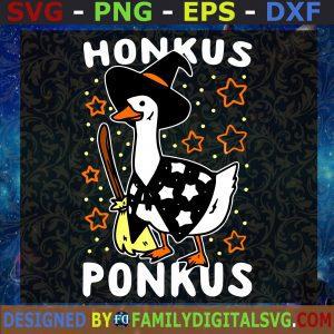 #Honkus Ponkus, Funny Halloween Svg, Cute Duck witch Svg, Honkus Svg