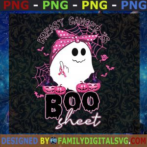 #Breast Cancer Is Boo Shit Png, Breast Cancer Awareness, Breast Cancer Png, Pink Rippon, Gift For Mom, Halloween Png