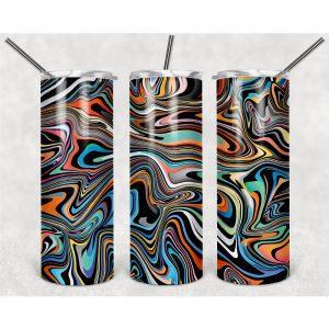 #Van Gogh Motifs PNG, 20oz Skinny Tumbler Design, Sublimation Designs PNG File