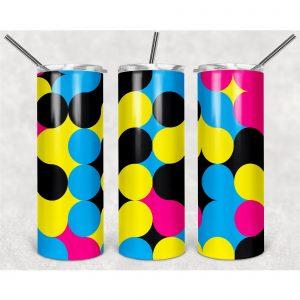 #Colorful Polka Dots PNG, 20oz Skinny Tumbler Design, Sublimation Designs PNG File