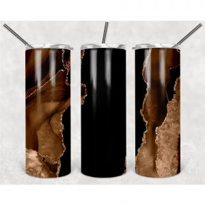 #Deep Brown Luxury Marble Texture PNG, 20oz Skinny Tumbler Design, Sublimation Designs PNG File
