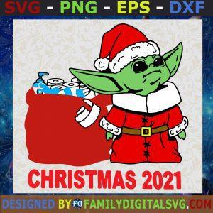 #Baby Yoda Christmas 2021 Svg, Baby Yoda Svg, StarWars Christmas Svg