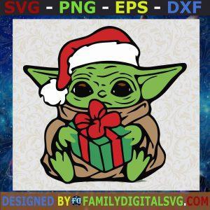 #Baby Yoda Christmas Star Wars Layered SVG, PNG, EPS, DXF, Cricut Frindly, Cut File