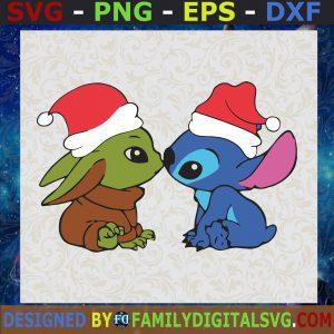 #Baby Yoda And Baby Stitch Christmas SVG, Christmas SVG
