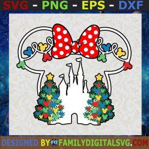 #Minnie Christmas SVG, Mickey Minnie Holiday SVG, Minnie Christmas Head SVG