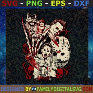 #I Love Horror SVG, Scary Movie Halloween SVg, Horror Movie Shirt SVG