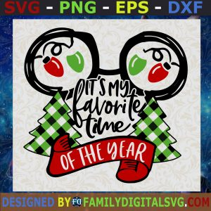 #It's the most wonderful time of the year Inspired by Mickey Mouse SVG, Mickey Mouse SVG, Mickey Christmas SVG