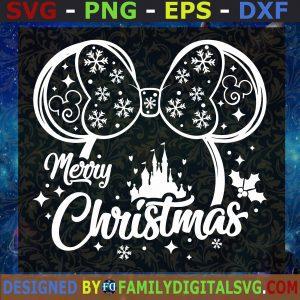 #Minnie Merry Christmas Svg, Minnie Svg, Minnie Mouse SVG, Disney Christmas SVG